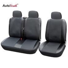 1 + 2 מושב מכסה מכונית מושב כיסוי עבור Transporter/ואן, אוניברסלי Fit עם עור מלאכותי, משאית אביזרי פנים
