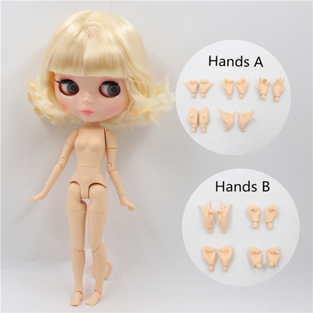 ICY DBS Blyth doll 1/6 bjd toy natural skin shiny face short hair joint body 30cm girls gift special offer 14