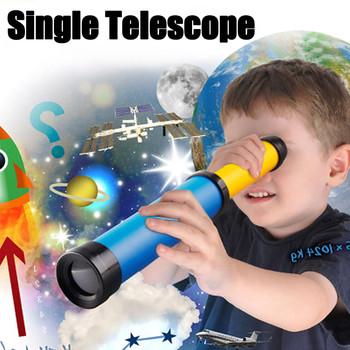 Pojedyncza lornetka dziecięca nauka o edukacji teleskop dziecięcy teleskop monokularowy teleskop na wędrówki turystyczne tanie i dobre opinie CN (pochodzenie) Z tworzywa sztucznego Monocular Telescope Children s telescope Outdoor Pocket Telescope Original Children s Educational Science