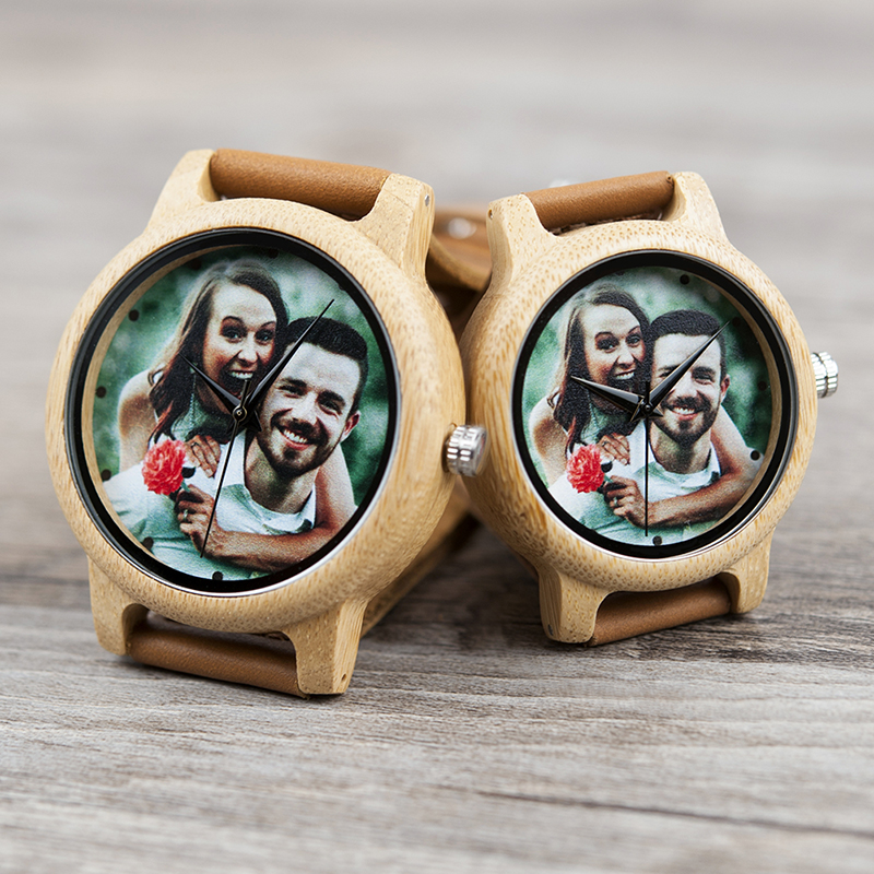Image 5 - BOBO BIRD Couples Wood Watch Personal Photo Printing Wristwatch Picture Print Customized Clock Unique DIY Gift For Friend/LoverLovers Watches   -