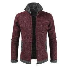 Winter Men's Sweaters Warm Thick Velvet Sweatercoa