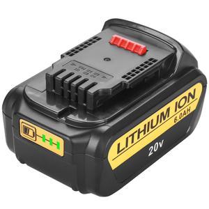 Image 2 - 20V 6000mAh Für DeWalt DCB200 MAX Wiederaufladbare Power Werkzeuge Batterie Ersatz DCB181 DCB182 DCB204 DCB101 DCF885 DCF887