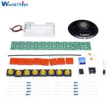 DIY Kit NE555 komponenty elektronika fortepian elektryczny moduł narządów z opakowanie na baterie elektroniczny zestaw zrób to sam DC 3-12V