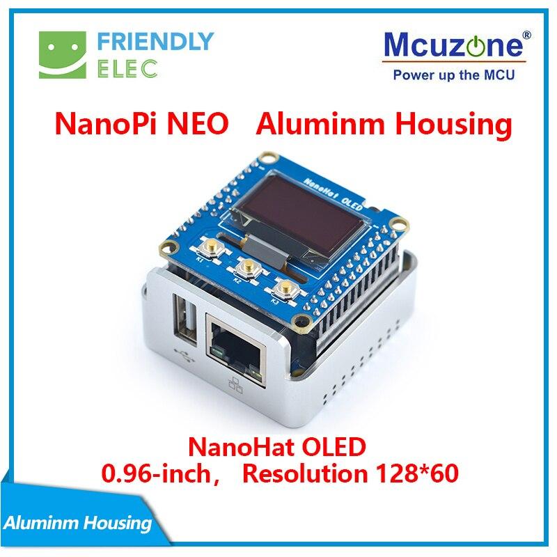 NanoPi NEO Metal Complete Kit Aluminum Housing Oled Programmable In Python FriendlyELEC