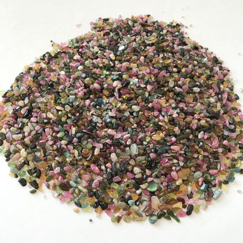 100g/set Natural Mixed Colorful Quartz Crystal Stone Healing Gem Garden Decoration Patio Ornament Gravel 2-5mm
