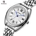 RUIMAS женские кварцевые часы Роскошные деловые наручные часы из нержавеющей стали водонепроницаемые нарядные часы женские часы Relogio Feminino 593