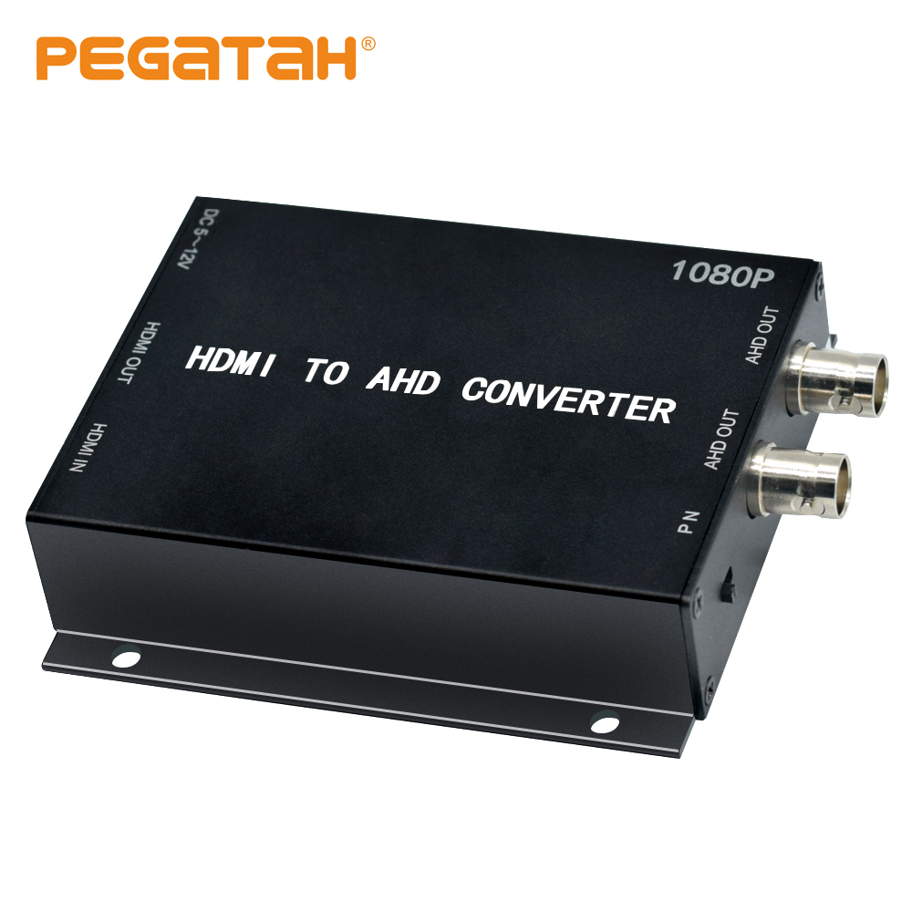 NEW 1080P HDMI To AHD Video Converter Mini Video Converter Adapter HDMI Loop With 2CH AHD Output Converter For Monitor HDTV DVRs