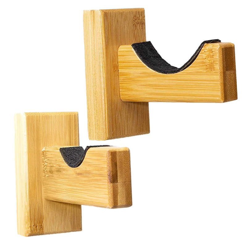 Baseball Bat Wall Mount For Horizontal Display, Handmade Solid Wood With Felt Liner And Bat Wall Mount(2 Pack)