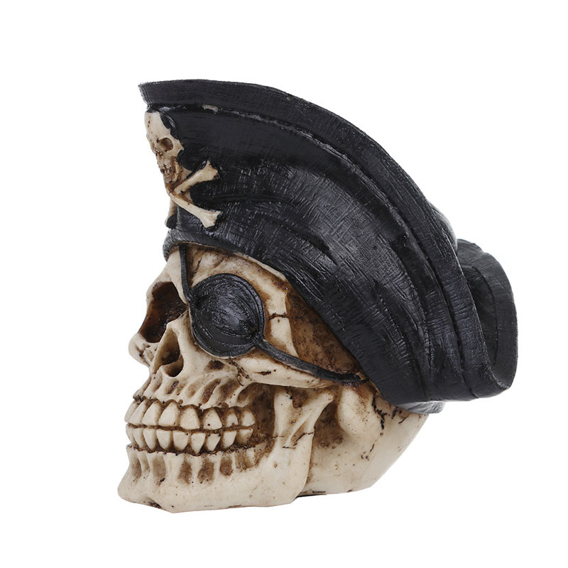Size 1:1 Model Pirate Skull Garden Statues Sculptures Personalised Fashion Gift