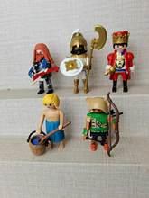 Nova boneca diy playmobil piratas cavaleiro meninas e menino polly bolso bloco de construção brinquedos educativos