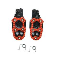Universal Motorcycle Pedal 8mm Aluminum Alloy Footrest Pedals With Spring Accessories