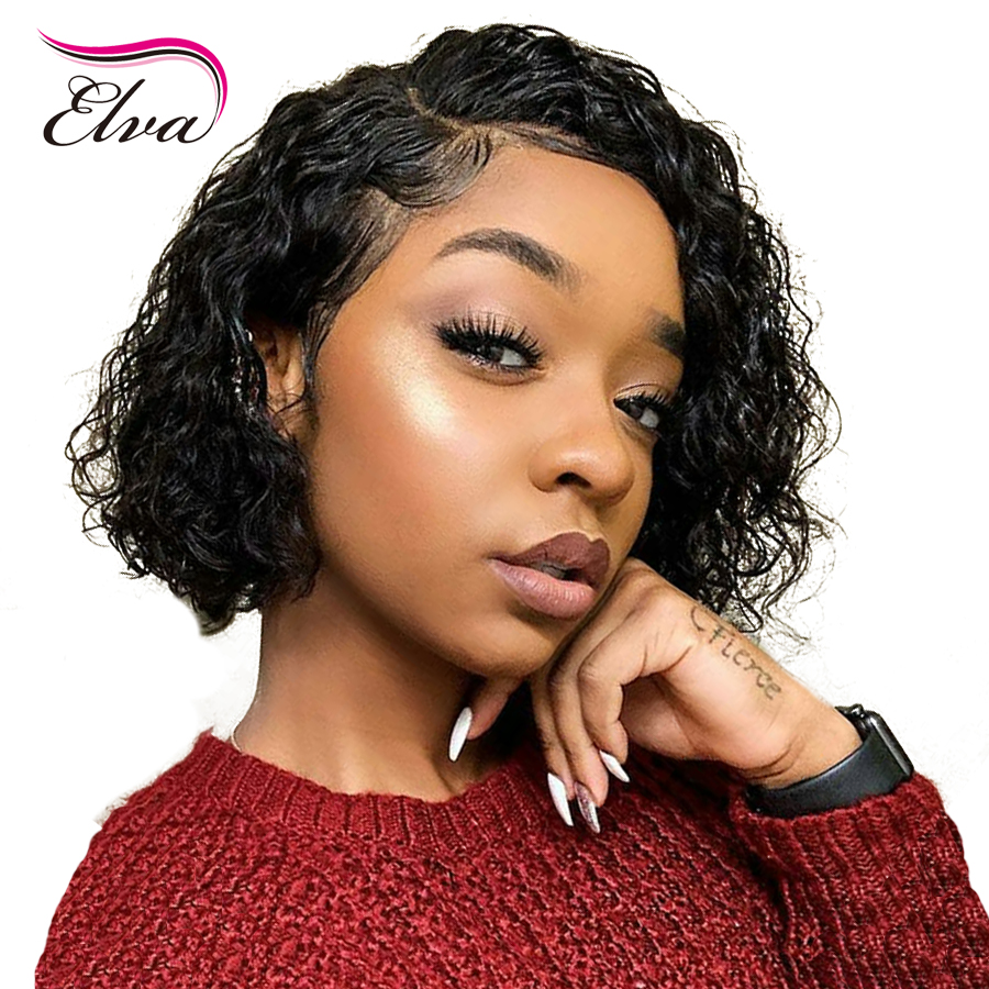 Elva Hair 13x6 Lace Front Human Hair Wigs With Baby Hair Pre Plucked Brazilian Remy Hair Lace Wigs For Black WomenCurly