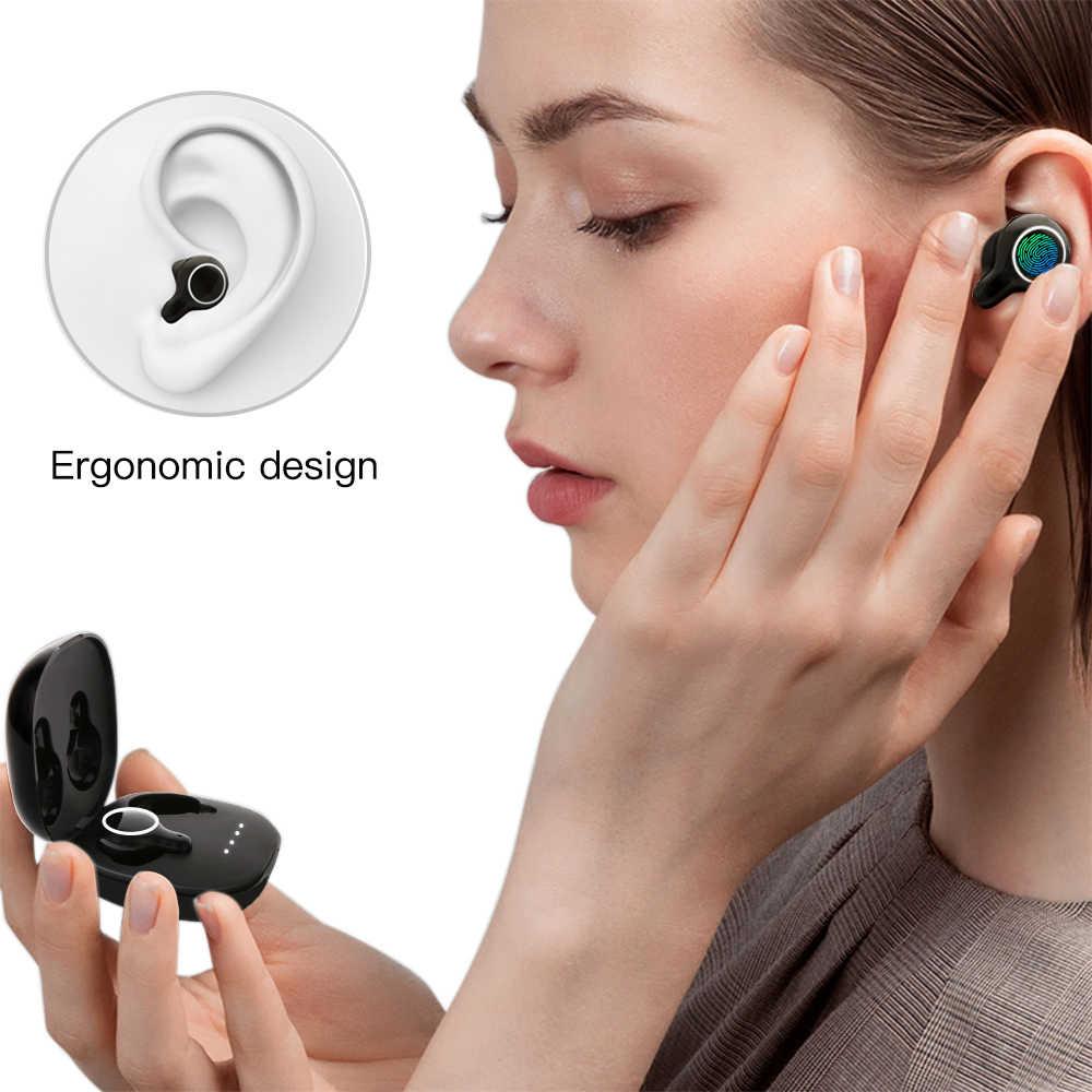 سماعة أذن لاسلكية من Cigfun موديل X-Buds TWS مزودة بتقنية البلوتوث 5.0 سماعات أذن ستيريو تعمل باللمس مع ميكروفون لهاتف iphone Huawei