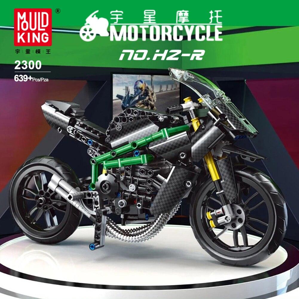 MOULD KING City cool superbike Motorcycle Blocks sports car technology building blocks boys assembling Kids  educational toys