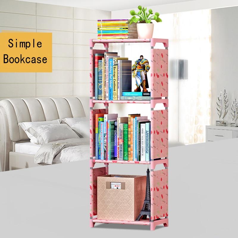2021 kreative Bücherregal Einfache Bücherregal Lagerung Rack Kombination Schicht Regal Boden kinder Bücherregale Lagerung Regal Für Bücher