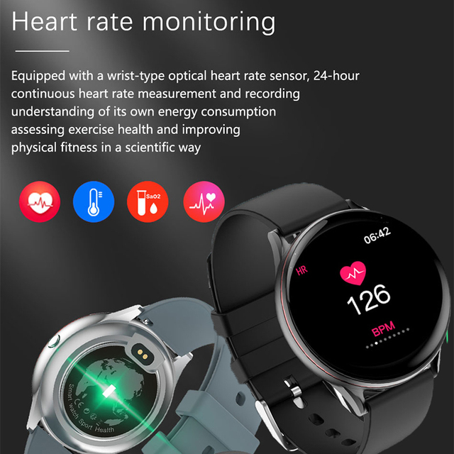 Women Men Smart Electronic Watch Luxury Blood Pressure Digital Watches Fashion Calorie Sport Wristwatch DND Mode For Android IOS 2