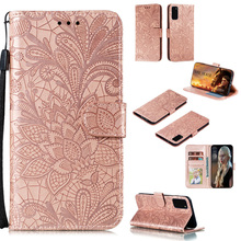 Leather Phone Embossed Flower Case For Samsung S9 S10 S20 Plus S10e S20 Uitra M10 M20 M30 S Cover Flip Cases wekays cover for samsung m10 m20 m30 cartoon leather flip funda case for coque samsung galaxy m10 m20 m30 cover case m10 m20 m30