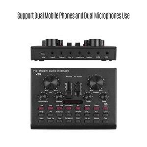 Image 3 - Multifunzionale In Diretta Streaming Scheda Audio USB Interfaccia Audio Mixer Dispositivo Vocale DJ Karaoke Attrezzature 16 Effetti di Sostegno