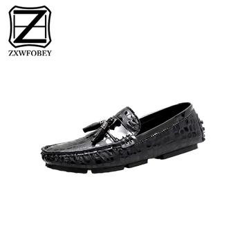 ZXWFOBEY mężczyzn Cowboy Gommino buty rekreacyjne na zewnątrz duży rozmiar moda na zewnątrz na co dzień mokasyny 47 48 duży rozmiar tanie i dobre opinie Mikrofibra Stałe Dla dorosłych Oddychająca Masaż Wytrzymałe Pasuje prawda na wymiar weź swój normalny rozmiar Przypadkowi buty
