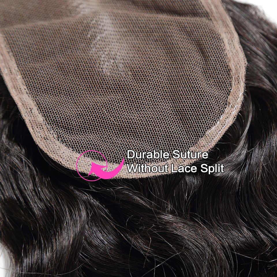 Halo Hair Loose głęboka fala peruwiański splot włosów 8-28 30 cali zestawy z zamknięciem Remy 3 4 zestawy z zamknięciem do przedłużania włosów