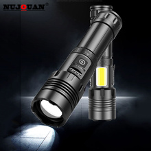 bright LED Flashlight 5 lighting modes Rechargeable Torch for Night Riding Camping Hiking Hunting & Indoor Activities Use 18650