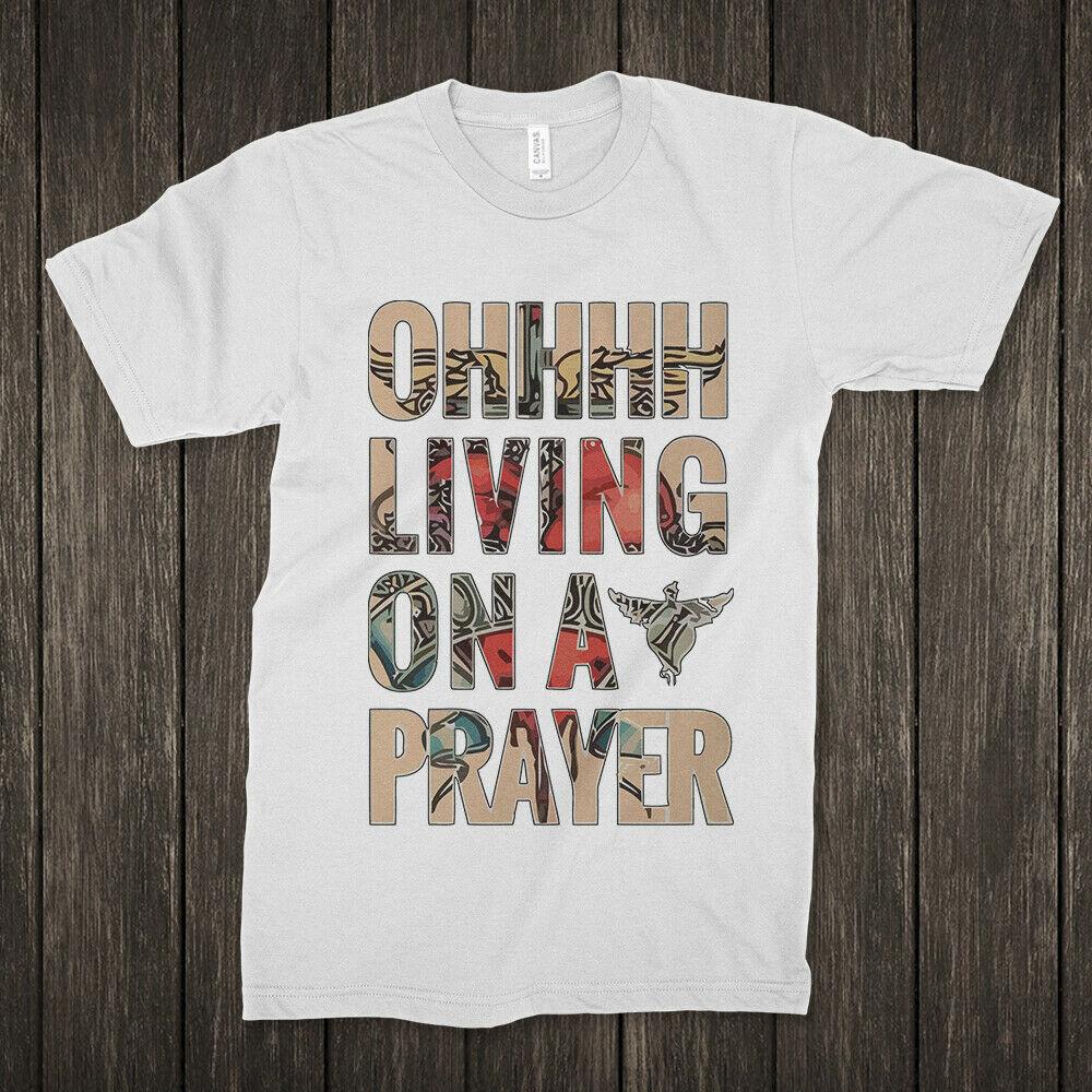 Bon Jovi Livin sur une prière Rock t-shirt hommes femmes tailles