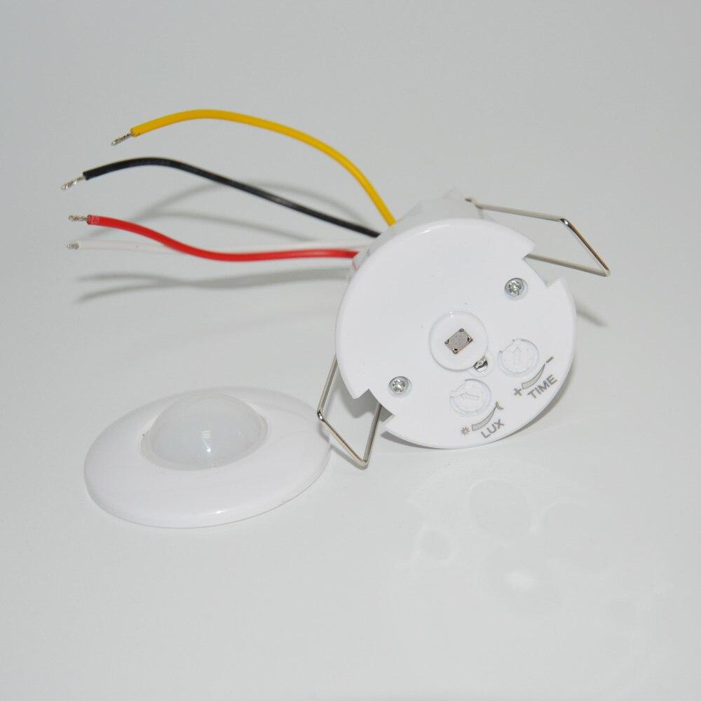Downlight serie Mini 12VDC wired decke PIR motion sensor gebaut-in infrarot detektor für 220V lampe control sicherheit alarm