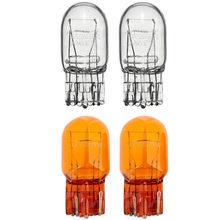 2 pçs t20 lâmpada halógena nova marca de alta qualidade vidro daytime running luz transformar sinal luz parar freio cauda lâmpada 7443 w21/5w