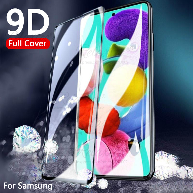 9D Full cover Tempered Glass For Samsung A51 A515F Screen Protector on for Galaxy A50 A50S A505 A507 a 50 50s 51 Protective film