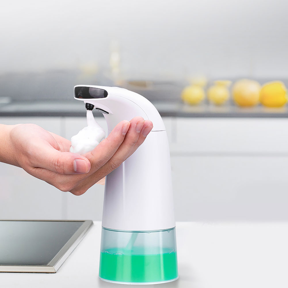 Automatic Foam Soap Dispenser Intelligent 250ml Liquid Soap Dispenser Contactless Infrared Sensor Induction Foam Dispenser Pump