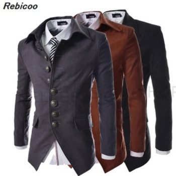 2019 new men's jacket winter fashion style double-breasted coat wool-blend coat