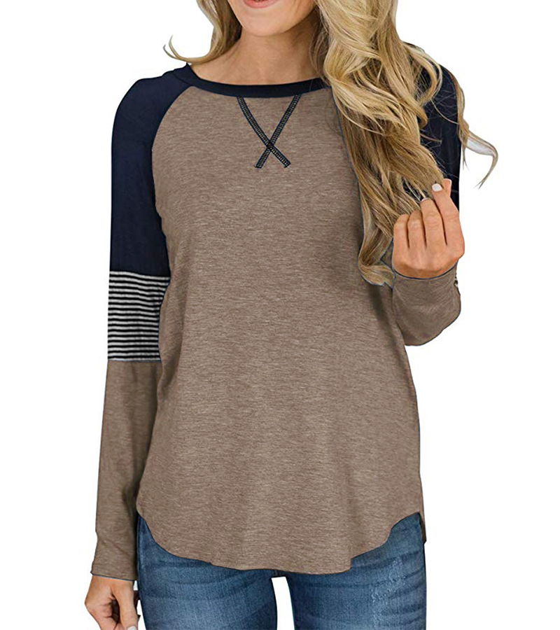 New Long Sleeve T Shirt Women Autumn Winter Round Neck Casual Loose Women T-shirt  Top Tee  Ladies tshirt  Female Clothes 2020 (10)