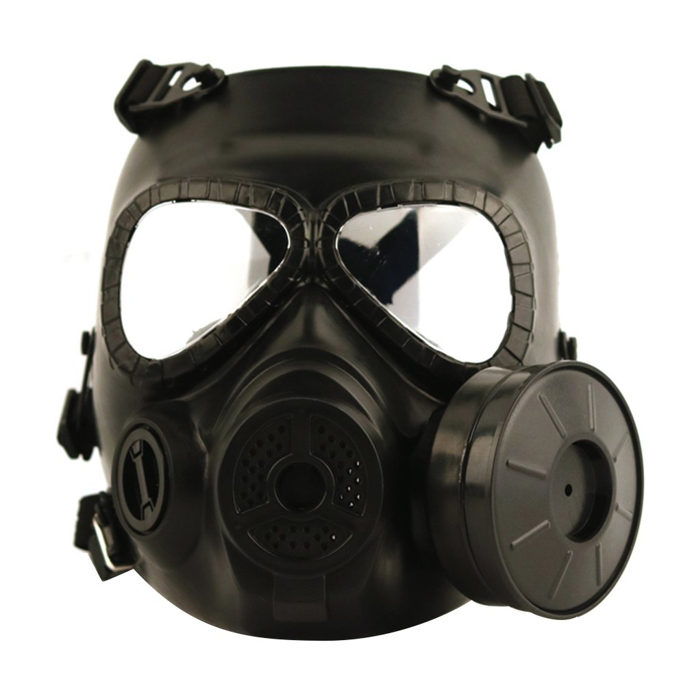 M04 Gas Mask Field Tactical Mask Skull Wicking Anti Fog Double Wind Drum With Fan Gas Mask|Masks| |  - title=