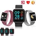 Мужские и женские умные часы P68  спортивные водонепроницаемые Смарт-часы с монитором сердечного ритма  артериального давления и кислорода  ...