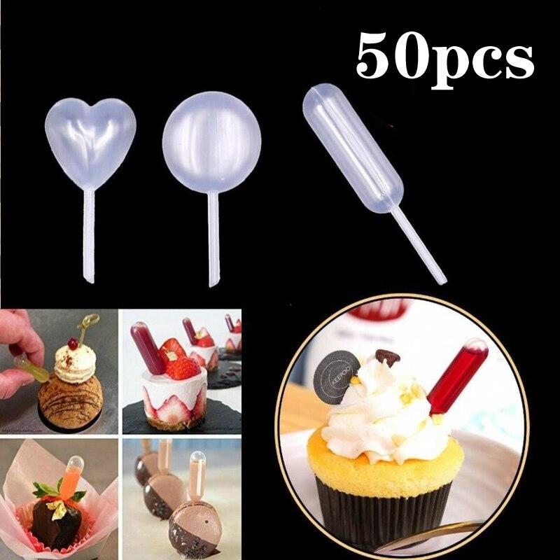 50 pçs 4ml molho conta-gotas para cupcakes molho de sorvete ketchup doces macaron recheado dispensador mini squeeze transferência pipetas