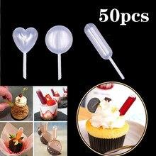 50 шт. 4 мл соусные капельницы для кексов, мороженого, соуса, кетчупа, пирожных, макарон, мягкий диспенсер, переносные мини-пипетки