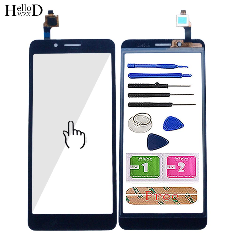 Mobile Touch Screen For Alcatel 1C 2019 5003D Touch Screen Digitizer Panel Lens Sensor Front Glass Tools 3M Glue Wipes