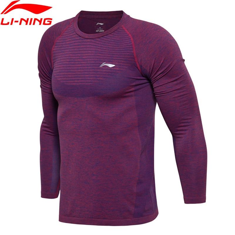 (Break Code)Li-Ning Men Badminton Series AT DRY T-Shirt Long Sleeve Slim Fit Breathable LiNing Li Ning Sports Tee ATLM111 MTL980