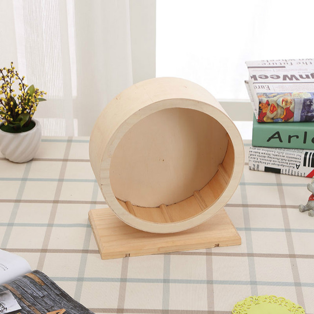 Pet Wooden Sports Wheel Mute Hamster Running Wheel Pet Toy Wheel For Hamsters, Mice, Mice And African Hedgehogs   WJ10313 1