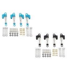 Pour Axial SCX24 90081 1/24 RC chenille voiture mise à niveau pièces en métal amortisseur amortisseur accessoires
