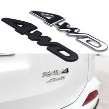 Car Styling 3D Chrome Metal Sticker 4WD Emblem 4X4 Badge Decal for Honda Suzuki Suzuki