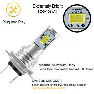 Image 5 - 2Pcs H4 H7 H8 H11 9005 HB3 9006 HB4 H1 H3 3570 שבב Canbus חיצוני Led הנורה רכב אוטומטי להחליף אור לבן 6000K