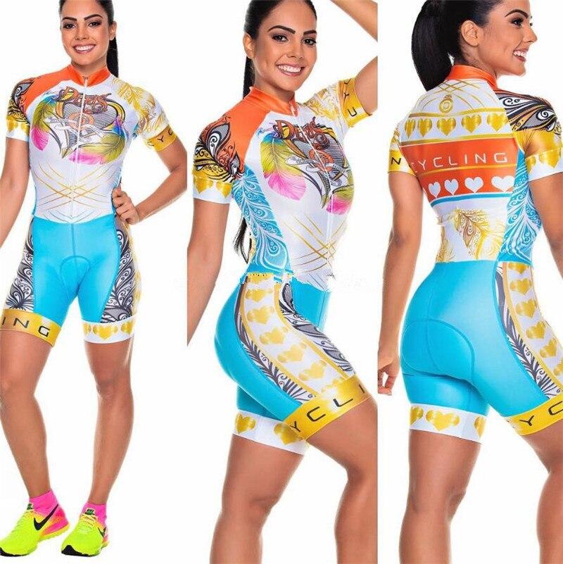2019 Pro Team Triathlon Suit Women/'s Cycling Jersey Skinsuit Jumpsuit Maillot