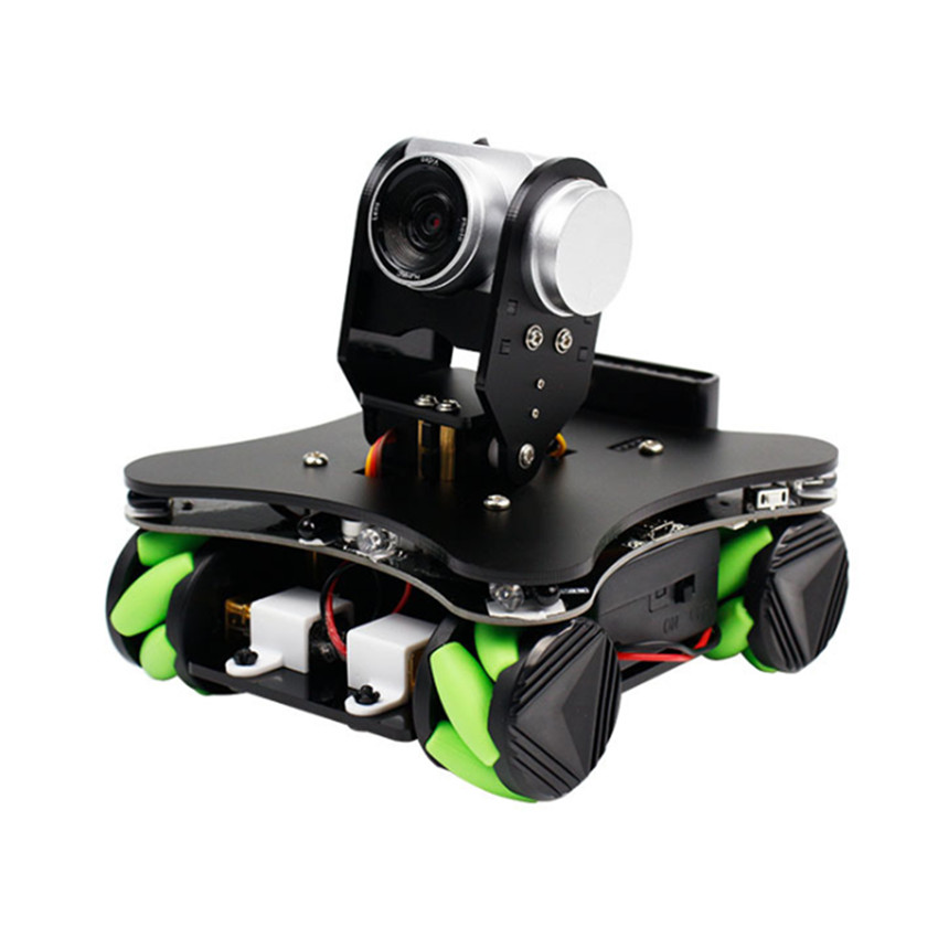 Yahboom Omniduino Omnidirectional Mobile Smart Car WiFi Video Programming Robot Kit With Vision AI Camera RC Car For Children