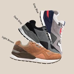 Image 3 - Xiaomi Mijia حذاء جري من الجلد الطبيعي المتين ومسامي ، أحذية رياضية ريترو ، 2020