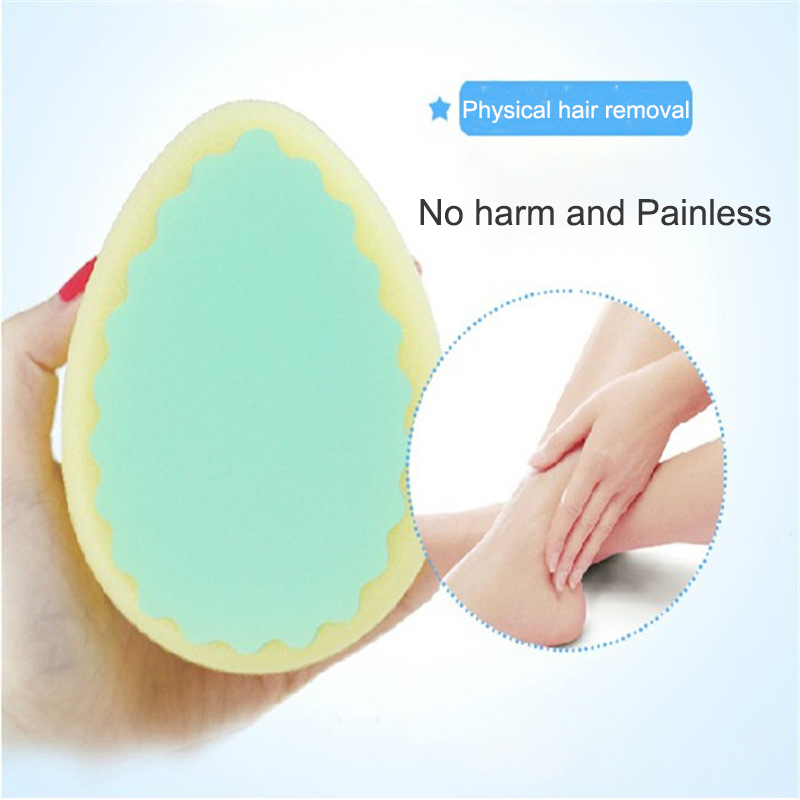Magic Painless Depilation Skin Care Sponge Unisex Effective Legs Arm Face Hair Removal Painless Hair Removal Sponge