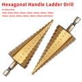 1 шт. набор титановых бит HSS 4-32 мм Пагода форма пагода с шестигранным хвостовиком Металлическая стальная ступенчатая сверла Отверстие Сверл...