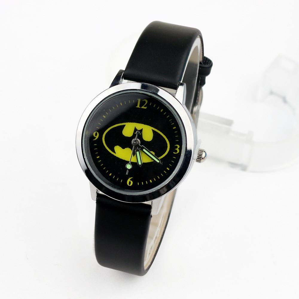 Batman Children Watches Kids Quartz Wristwatches Princess Girls Watch Boys Students Clock Relogio Kol Saati Relogio Infantil