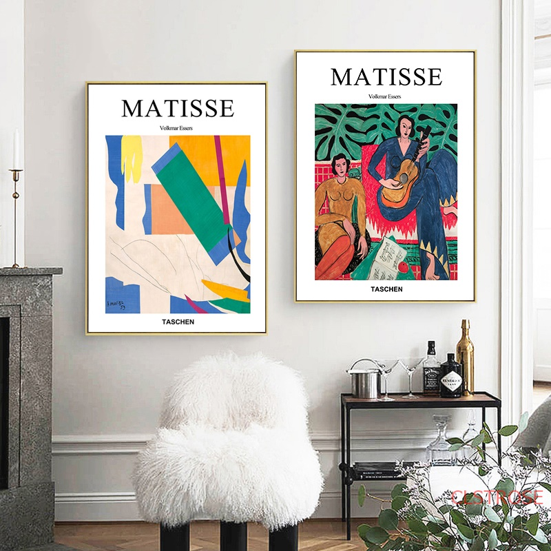 Henri Matisse Taschen Posters Guitar Girl Portrait Wall Art Canvas Painting Abstract Pictures For Living Room Home Decoration
