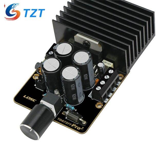 Placa amplificadora TZT TDA7377 DC12V, Clase AB, tarjeta amplificadora de coche, 35W + 35W, doble canal, bricolaje, Kit de amplificador de Audio
